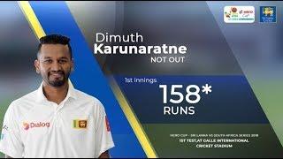 Dimuth Karunaratne's unbeaten 158* against South Africa