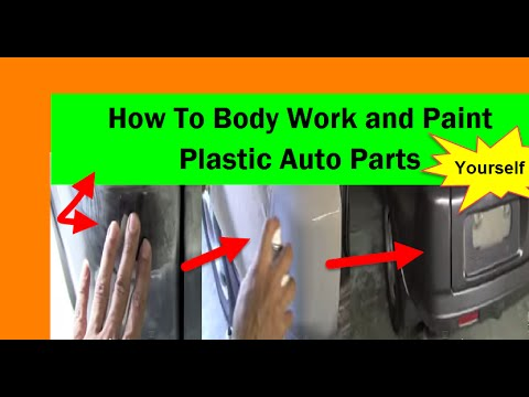 how to body work and paint plastic auto parts yourself. Black Bedroom Furniture Sets. Home Design Ideas