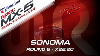 2020 SPEC MX-5 SimRacing Challenge | Round 8 - Sonoma Raceway