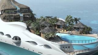 Yacht Island Designs Tropical Island Paradise