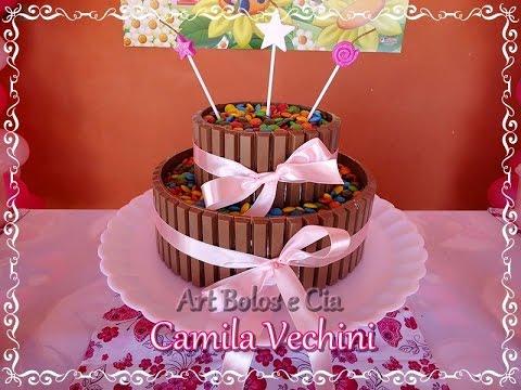 Kit Kat (falso) para decoração de bolos!!!