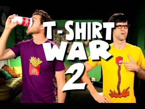 T-SHIRT WAR 2!! (TV Commercial - Stop Motion)