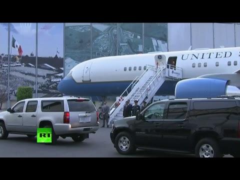 Llegada del secretario de Estado Rex Tillerson a México