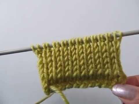 Вязание двойной резинки на спицах видео