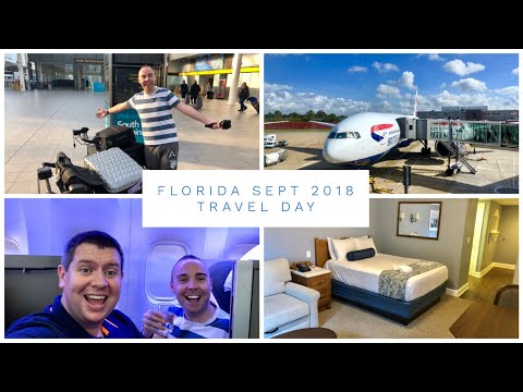 Walt Disney World & Florida Vlog - Sept 2018 - Travel Day - British Airways Gatwick to Orlando