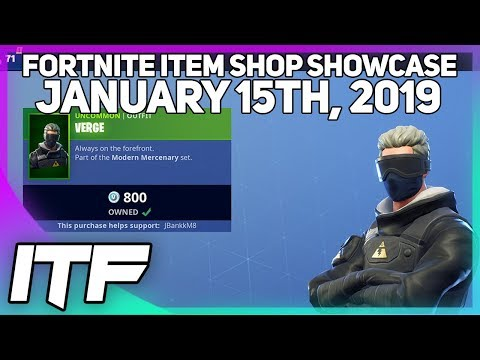 Fortnite Item Shop *NEW* VERGE SKIN SET! [January 15th, 2019] (Fortnite Battle Royale)