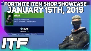 Fortnite Item Shop *NEW* VERGE SKIN SET! [January 15th, 2019] (Fortnite Battle Royale)