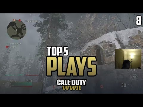 Killa INSANE Cross Map Grenade! - COD WWII: TOP 5 PRO PLAYS #8 - Call of Duty World War 2