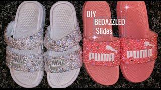 DIY | BEDAZZLED SLIDES