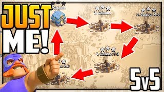 Clan War With MYSELF! 5v5 in Clash of Clans Town Halls 2 to 12!