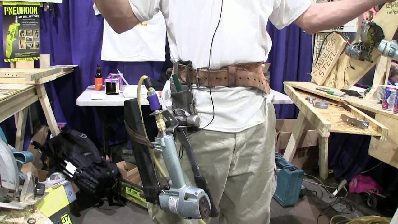 The Pneuhook Nail Gun Hanger Youtube