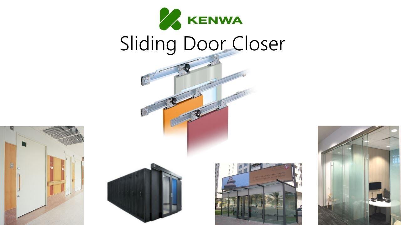 sliding door closer self closing device for sliding doors