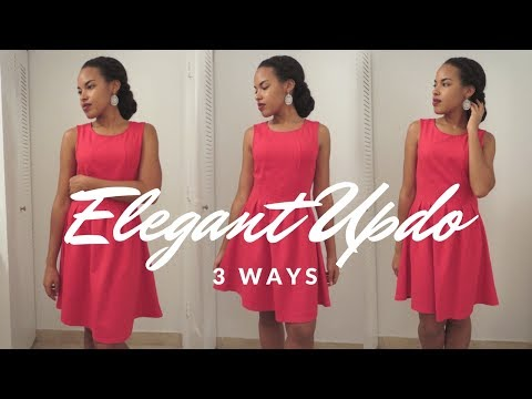 Elegant Natural Hair Updo for Wedding or Special Event | 3 Ways
