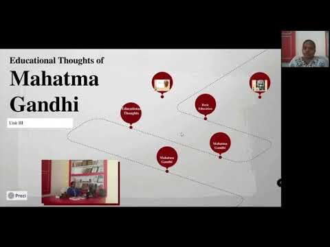 Educational Thoughts of Mahatma Gandhiji Lecture Video - Dr.C.Thanavathi