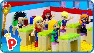♥ LEGO Rapunzel Goes to SUPERHERO SCHOOL to Become the Super Hero Girl