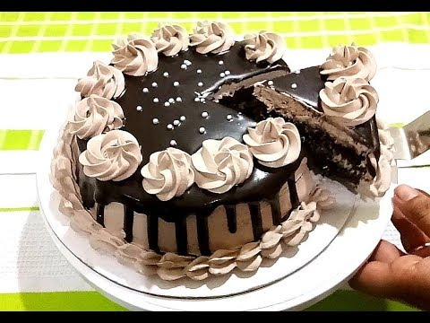 Chocolate Cake Without Oven Without Egg | बिना अंडे बिना ओवन वाला चॉकलेट केक ~ Bristi Home Kitchen