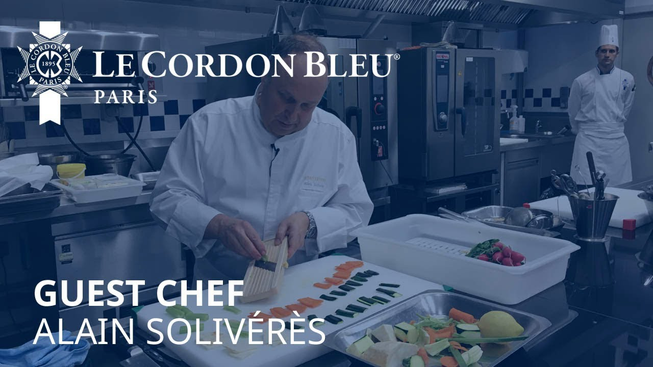 Cuisine demonstration by chef Alain Solivérès, Le Taillevent Paris ...