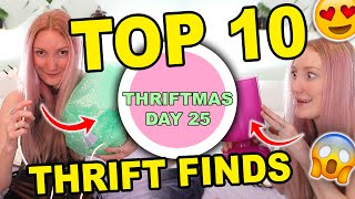 TOP 10 BEST THRIFTED ITEMS + THINGS I DIDN'T BUY WHILE THRIFTING   THRIFTMAS DAY 25