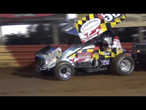Lincoln Speedway 410 and 358 Sprint Car Highlights 4-23-16