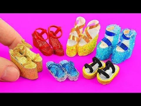 Лайфхаки для Барби: обувь для Барби! туфли, кроссовки, и ещё