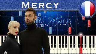 Madame Monsieur - Mercy (France 2018) | Piano tutorial | Eurovision Song Contest + MIDI