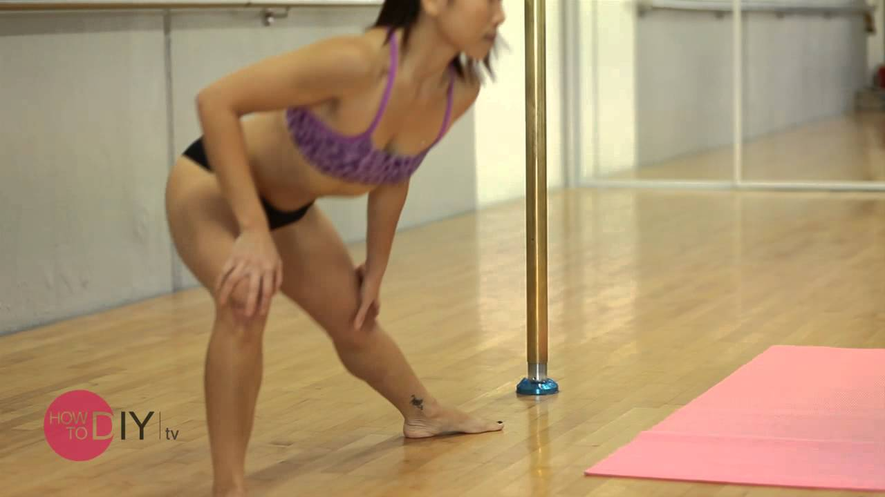 How to Pole Dance for Beginners - Cradle Spin - YouTube