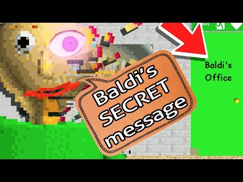 Baldi's GOOD ENDING & SECRET EXPLAINED! - Baldi's Basics In Education And Learning (Update Gameplay)