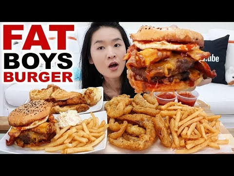 BIG FAT Juicy Beef Burger, Fried Chicken & Waffle Sandwich, Onion Rings, Fries | Eating Show Mukbang
