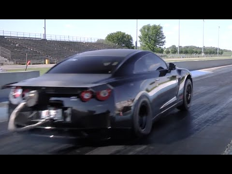 Alpha Omega GT-R INSANE 190mph 1/4 mile pass!