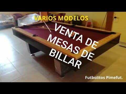 VENTA DE MESAS DE BILLAR.  PIMEFUT 
