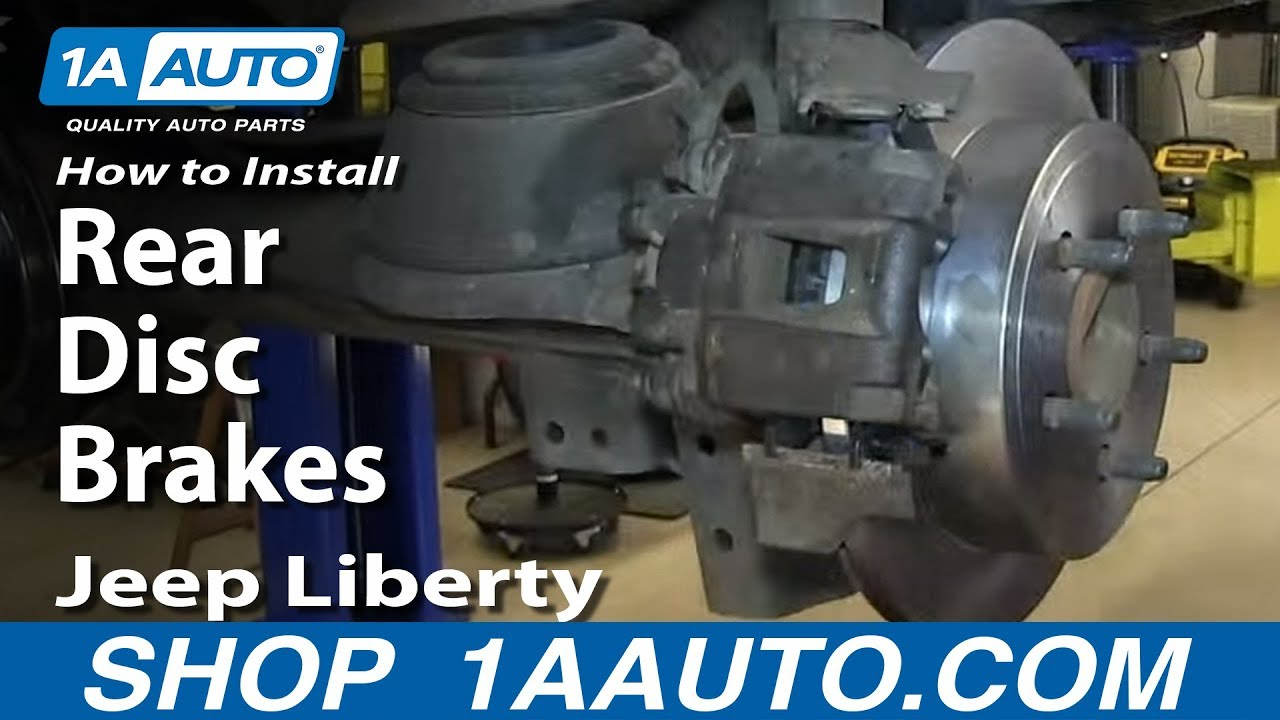 how to replace rear brakes 03-07 jeep liberty