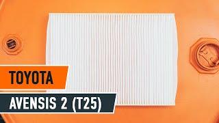 Cómo reemplazar Juego de pastillas de freno TOYOTA AVENSIS (T25_) - tutorial