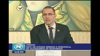 Reunión del canciller de Venezuela con embajadores en el país ante amenaza de golpe de Estado