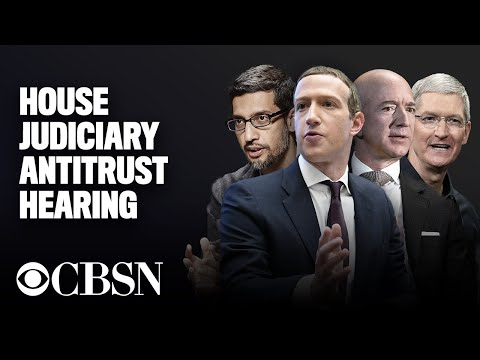 Live: Google, Facebook, Amazon, Apple CEOs testify before House Judiciary antitrust subcommittee