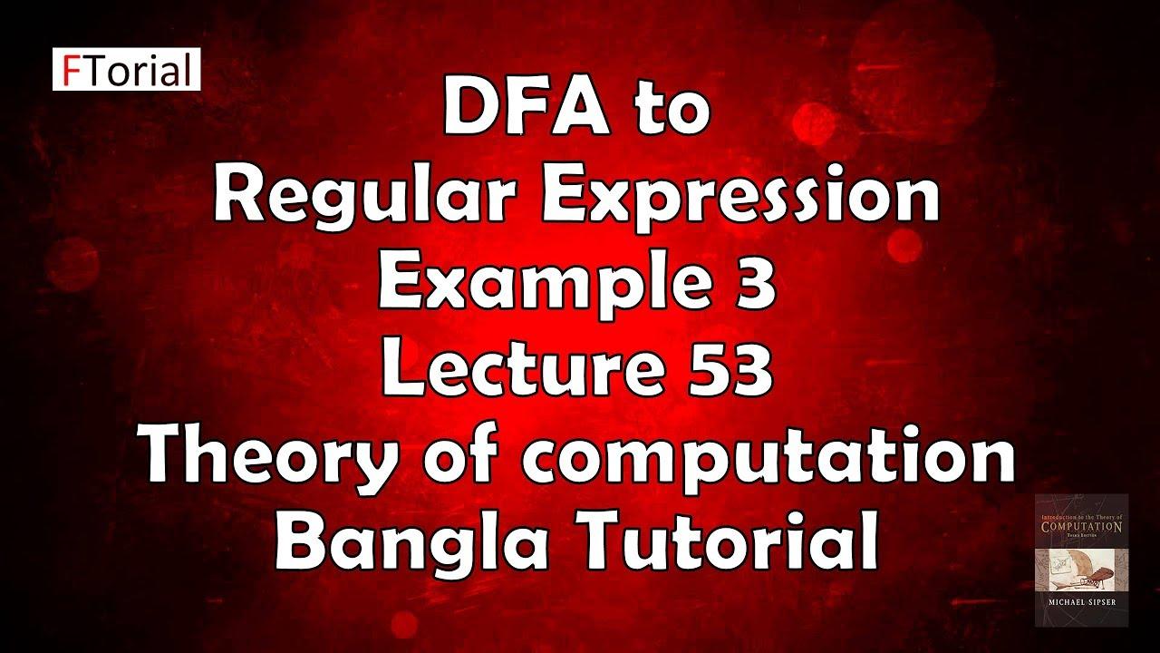 Regular expression to dfa conversion example