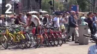 Stealing bikes in Amsterdam