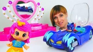 Герои в Масках в садике у Маши - Игры с игрушками в магазин