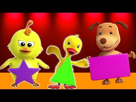 Forme canzone | 3D Animazione per i bambini | Bambini Musica | Imparare diverse forme | Shapes Song