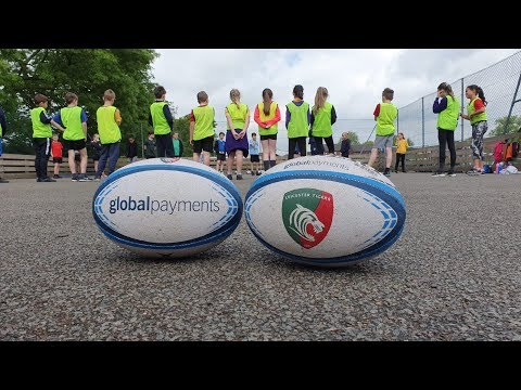 Pupils getting active with Global Payments Healthy Schools