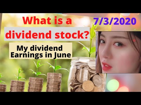 What is a dividend stock?/my dividend earnings in June, 2020