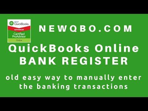 Solved checkbook register - QuickBooks Community