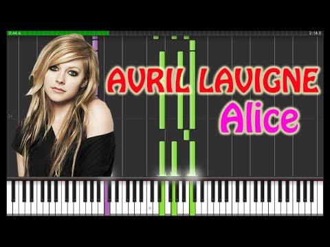 Avril Lavigne - Alice Piano Tutorial  (Synthesia + Sheets + MIDI)