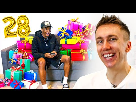 I BOUGHT TOBI 28 PRESENTS FOR HIS BIRTHDAY