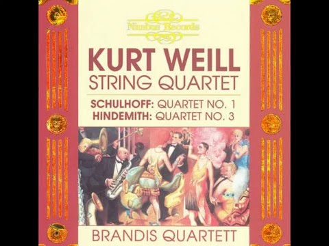 Kurt Weill - string quartet no.1 (FULL length)