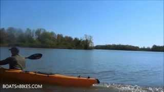 Paddling the Prijon SeaYak sea kayak for test and reviews