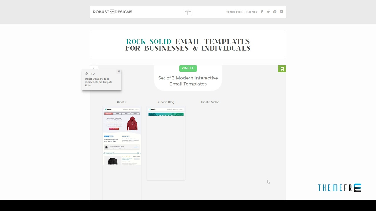 Kinetic Interactive Emails TFx Dowload Blog Carousel Ecomme YouTube - Interactive email template