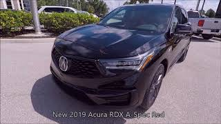 New 2019 Acura RDX A-Spec Red Near Fort Myers and Estero
