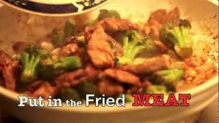 Stir-fry Pork-fillet With Broccoli And Cashews (quick & Easy) (tutorial)