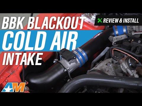 1999-2004 Mustang V6 BBK Blackout Cold Air Intake Review & Install