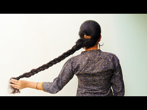 clipped-braided-hair-style-with-center-partion|clipped-hair-style-#longhair-#hair-#beautywithmaadhu